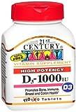 21st Century High Potency D3-1000 Iu 1,000 Iu 110 Tabs
