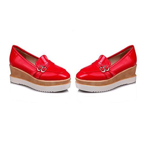 Compensées Sandales Femme AN Red DGU00684 EqwwCn15p