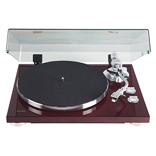 TEAC TN-400S Belt-Driven Turntable with S-Shaped Tonearm (Gloss Cherry)
