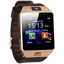 Bluetooth Smart Watch Phone Mate GSM SIM For Android iPhone Samsung HTC LG (Gold)