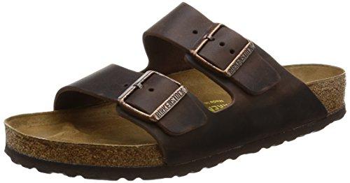 Arizona Sandals Leather Birkenstock (Birkenstock Arizona Habana Leather Unisex Sandal 39 R (US Women's 8-8.5))
