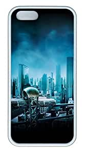 Gotham City TPU Silicone Rubber iPhone 5 and iPhone 5S Case Cover - White