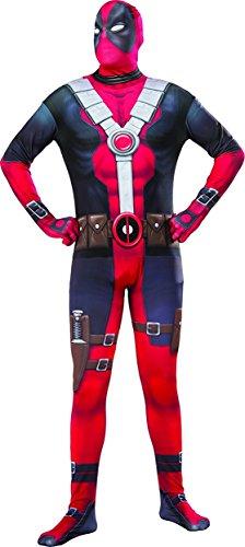 Deadpool Costume 2016 (Marvel Men's Deadpool 2nd Skin Costume, Multi,)