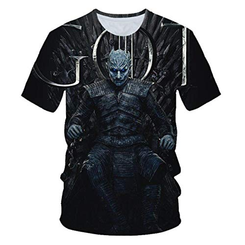 Game of Thrones Night King Teen Girls 3D Pattern Printed Short Sleeves Tee Shirts