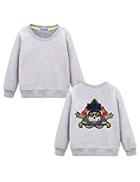 Black Temptation Sweatshirt for Boys Girls Casual Pullover with Stylish Embroidered