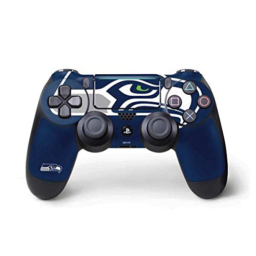 (Skinit Seattle Seahawks Large Logo PS4 Pro/Slim Controller Skin - Officially Licensed NFL Gaming Decal - Ultra Thin, Lightweight Vinyl Decal Protection)