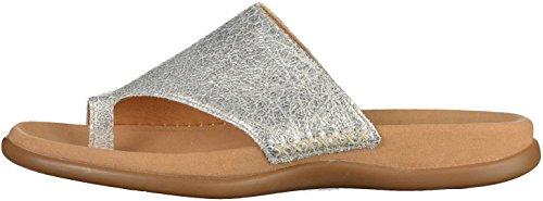 Gabor Shoes Fashion, Mules para Mujer Silber