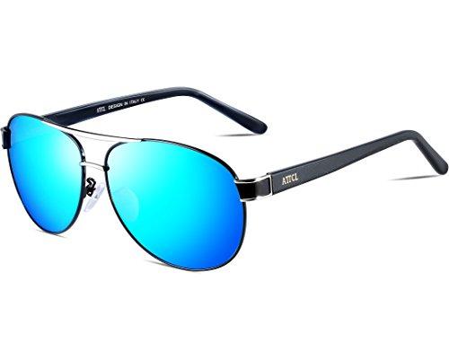 76f3c23d045 ATTCL Men s Premium Full Mirrored Polarized Drving Sunglasses For Men Lens  Uv400
