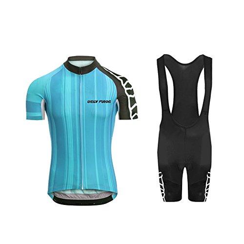 Bib Cycling Free Short (Uglyfrog 2018 Men's Summer Cycling Jersey Road Bike Set Short Sleeves Jersey + Bib Shorts Breathable and Quickly Dry USDXTZYSB07)