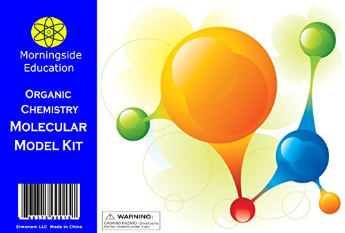 Molecular Model Kit by Morningside Education - Organic Chemistry - Includes 50 Atoms, 90 Connectors, Separating Tool and
