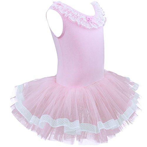 Tiaobug Tutu Costumi Partito Rosa Del Dancewear Ballo Vestito Balletto Dal Body Ragazze gyczpyYrq