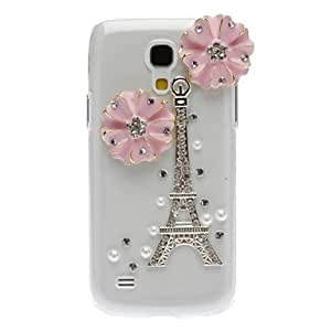 Bling Bling Noble Eiffel Design Hard Case with Rhinestone for Samsung Galaxy S4 Mini I9190