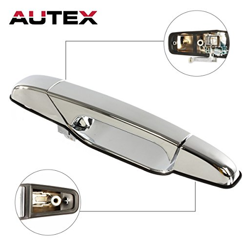 - AUTEX Chrome Exterior Front Right Passenger Side Door Handle Compatible with 07 08 09 10 11 12 2013 2014 Chevy Silverado GMC Sierra 1500 2500 3500 Chevy Tahoe Cadillac Escalade GMC Yukon 80545