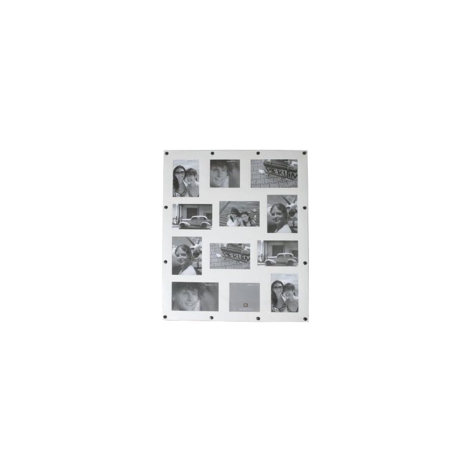 Present Time Photo Frame Fridge Collage Magnetic White