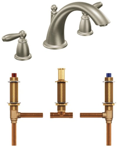 Moen T933BN-4792 Brantford Two-Handle Low Arc Roman Tub Faucet ...