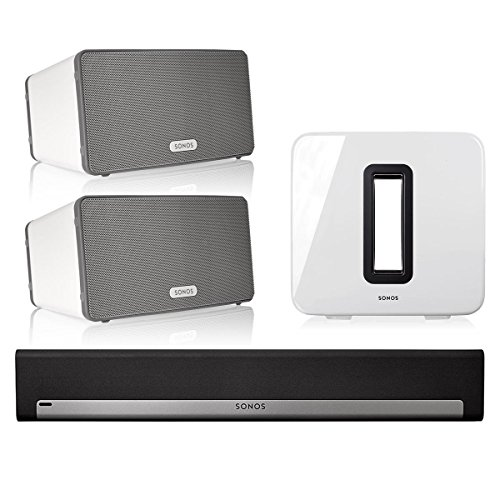 Sonos 5.1 Home Theater System with PLAY:3 (Pair), PLAYBAR, and SUB (White) by Sonos (Image #9)
