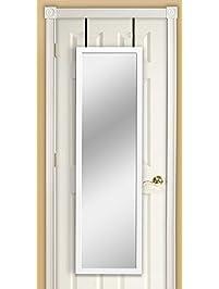 Mirrotek DM1448WT Over The Door Mirror, White