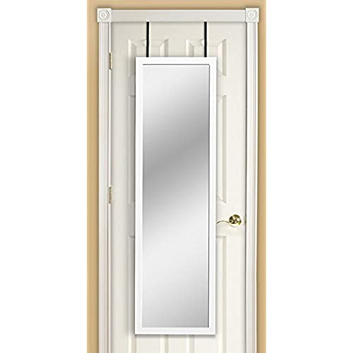 Merveilleux Mirrotek DM1448WT Over The Door Mirror, White