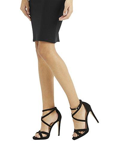 Lipsy Mujer Sandalias con Tiras Y Plataforma Fina de Negro EU 40 (UK 7)