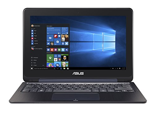 ASUS Transformer Book TP200SA-DH01T-BL 11.6 inch Display Thin and Lightweight 2-in-1 Full HD Touchscreen Laptop, Intel Celeron Processor, 4GB RAM, 32GB EMMC Storage, Windows 10 Home, Dark Blue Color