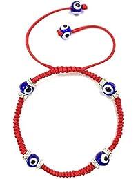Classic Evil Eye Bracelet Braided String Macrame Kabbalah Jewelry for Women