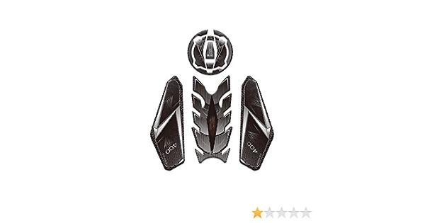 PRO-KODASKIN Motorcycle 3D Printing Gas Cap Tank Pad Sticker Decal Emblem Fit for Kawasaki Z400-Black Gas Cap