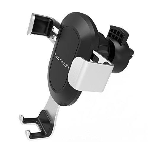 Car Phone Holder, Lamicall Gravity Phone Mount : Universal Cradle Stand Holder Compatible with iPhone Xs XR X 8 7 6 6s Plus 5 5S 5C SE, Galaxy S5 S6 S7 S8, Google, LG, Huawei, Other Smartphone