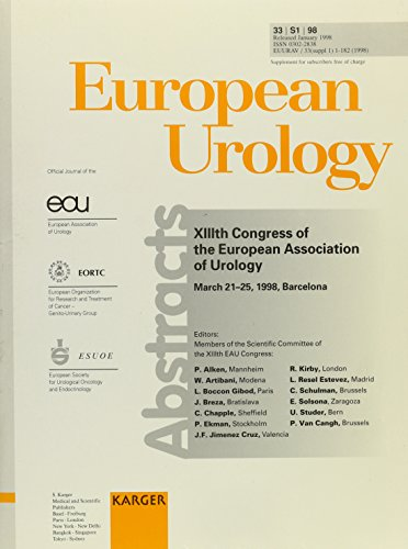European Association of Urology: 13th Congress, Barcelona, March 1998: Abstracts;European Urology Ser