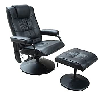 Superieur Homcom Deluxe Faux Leather Massage Recliner Chair Easy Sofa Armchair Beauty  Couch Bed With Foot Stool