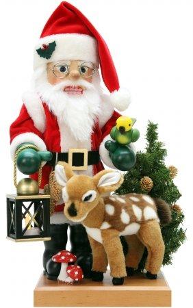 0-476 - Christian Ulbricht Nutcracker - Santa and Bambi - 18''''H x 8.5''''W x 9''''D by Alexander Taron Importer