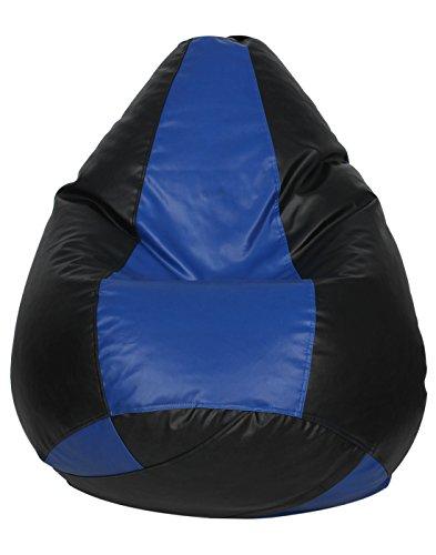 Sattva Classic Bean Bag Cover Without Beans XXL Size Dual Colour   Black Royal Blue