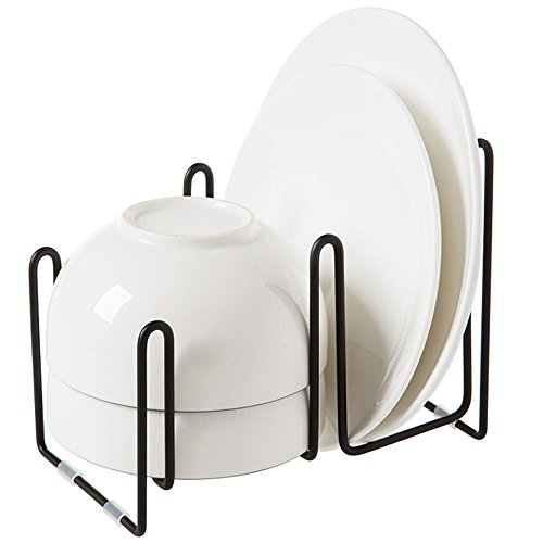 Janicestyle Compact Wrought Iron Kitchen Dish Drainer Rack S