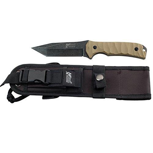 MTech MX-8065 Xtreme USA Fixed Blade Knife, Black/Green, 10-Inch