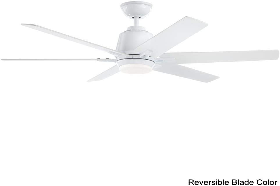 Home Decorators Collection Yg493a Wh Kensgrove 54 In Integrated Led Indoor White Ceiling Fan With Light Kit And Remote Control Amazon Com