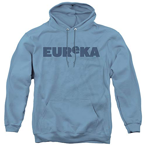 Eureka Logo Unisex Adult Pull-Over Hoodie for Men and Women, X-Large Carolina Blue