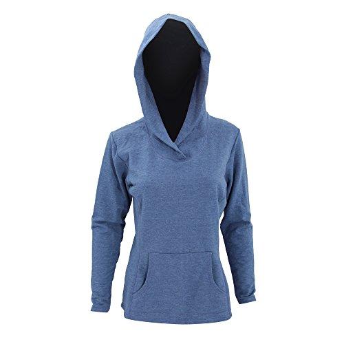 Anvil Womens/Ladies Hooded French Terry Sweatshirt / Hoodie (2XL (16-18 US)) (Heather Blue)