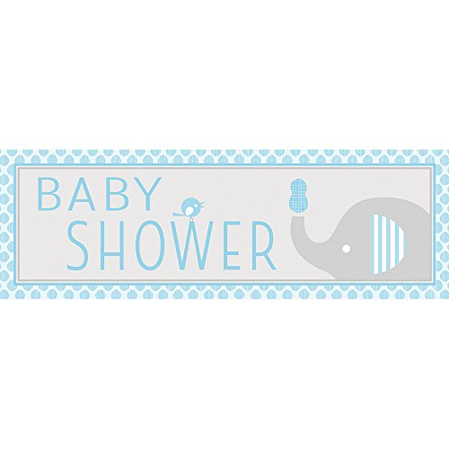 Creative Converting 317234 Little Peanut-Boy Baby Shower Party Banner -