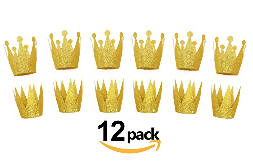 Gold Birthday Crown Hats, 12pcs Party Hat, Party Decorations - King Kids Hat