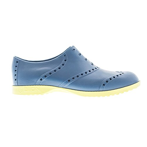 Biion Brights Men Athletic Golf Oxford, Navy/Green Yellow, Size - 8