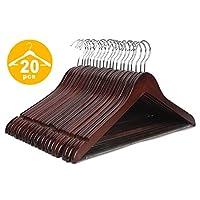 JS HANGER Multifunctional High Grade Solid Wooden Suit Hangers, Coat Hangers