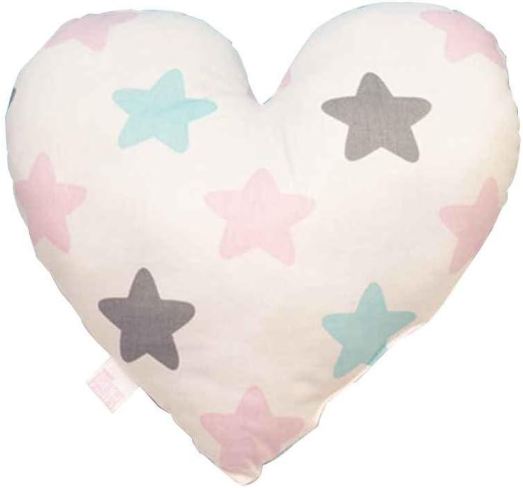 Uzinb en Forma de corazón Almohada de Confort para el bebé Ropa de Cama de algodón Acolchado Suave y cómodo