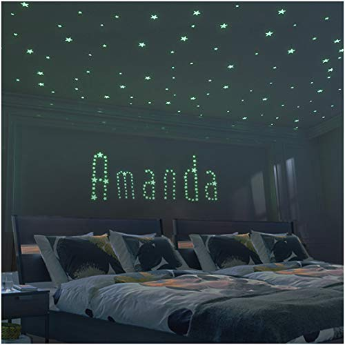 Glow Star Kid Bedroom Wall Stickers - 225 PCS Brightest & Biggest Stars (10.5cm) Glow in the Dark - Baby Room Decor for Boy Girl - Kid Room Decoration Wall Art - Decor Idea - Baby Shower Gift Set