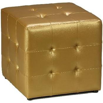 Amazon Com Cortesi Home Apollo Cube Ottoman Metallic