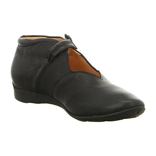 Mujeres Zapatos planos Schwarz Schwarz 80053-00