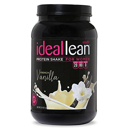 IdealLean, Protein Powder for Women, 20g Whey Protein Isolate, Calcium, Folic Acid, 0g Sugar, 0g Fat, 0 Carbs, 30 Serving