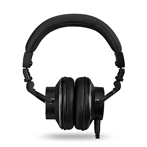 BassLine Over-Ear DJ Style Headphones with In-line Mic & Controls (Black)