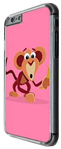 1150 - Cute Fun Monkey Animal Pinky Design For iphone 4 4S Fashion Trend CASE Back COVER Plastic&Thin Metal -Clear