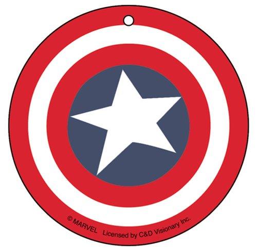 Air Freshener Marvel Comics Retro Captain America Shield