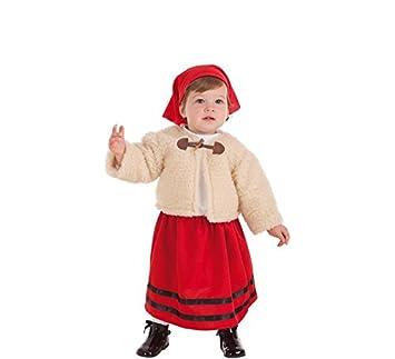 Creaciones Llopis Disfraz de Pastora con Abrigo para bebé