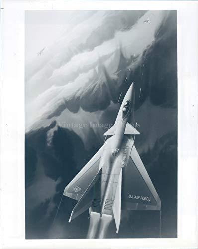 Vintage Photos 1990 Photo Advanced Tactical Fighter Airplane Force F15 Artist Portrait 8x10